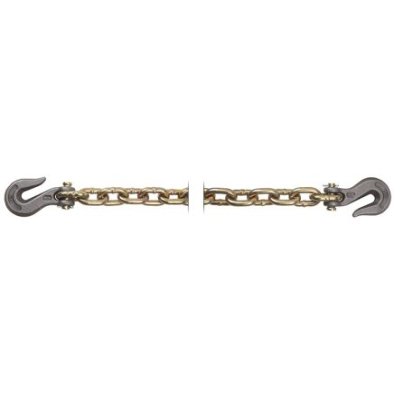 P70 Grade 70-Tie down chain with hooks-GOLD