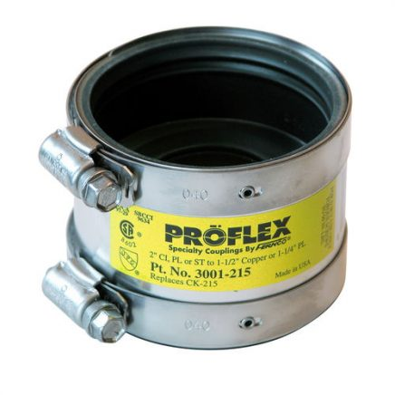Fernco Proflex Copper to CI, Plastic or Steel